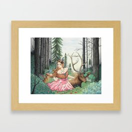 The Queen of the forest Framed Art Print