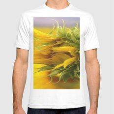 SUNFLOWER White Mens Fitted Tee LARGE