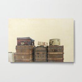 Steamer Trunks and Vintage Luggage Metal Print