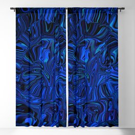 spiral complexity, blue Blackout Curtain