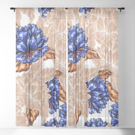 Floral Background Sheer Curtain