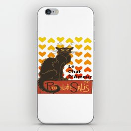 Le Chat Damour De Rodolphe Salis Valentine Cat iPhone Skin