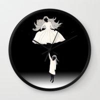umbrella Wall Clocks featuring UMBRELLA by auntikatar