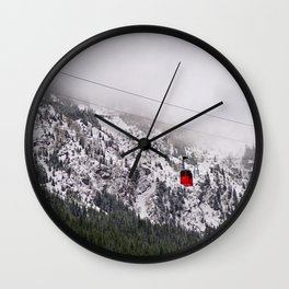 Up to the mountains Wall Clock