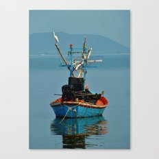 Bird on Boat Canvas Print