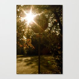 Stoplight  Canvas Print