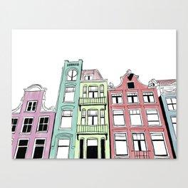 Amsterdam in Color Canvas Print