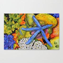 Blue Sea Star Canvas Print