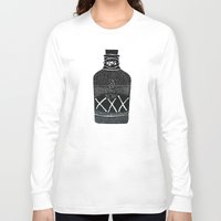alcohol Long Sleeve T-shirts featuring Alcohol Bottle xxx by matteolasi