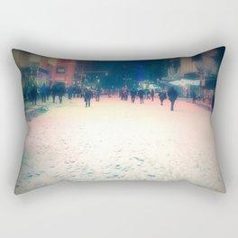 Desolate Times Square Rectangular Pillow