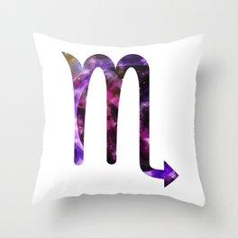 Galactic Scorpio Throw Pillow