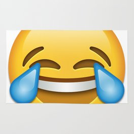 Face with tears of joy emoji Rug