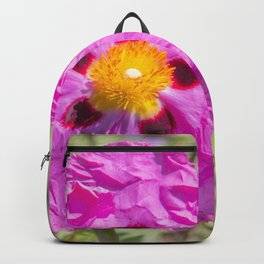 Creased Flora Backpack