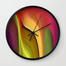 Tall And Short Colorful Abstract Wall Clock