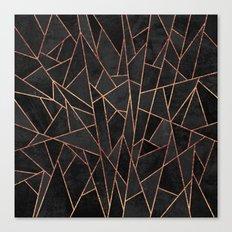 Shattered Black / 2 Canvas Print