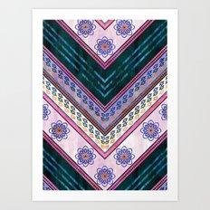 Serenity Chevron {3C} Art Print
