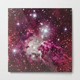 Fox Fur Nebula Burgundy Magenta Metal Print