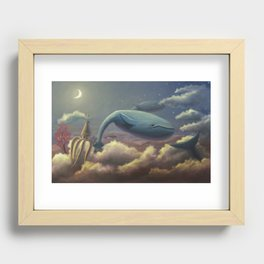 Whale Flight Recessed Framed Print