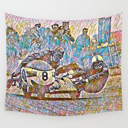 Sidecar racing Wall Tapestry