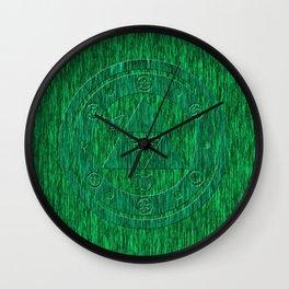 Zelda Green Art Triforce Wall Clock