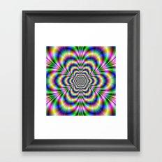 Psychedelic Hexagon Framed Art Print