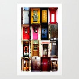 Chicago doors Art Print