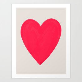 Big Neon Heart - Hot Pink Art Print