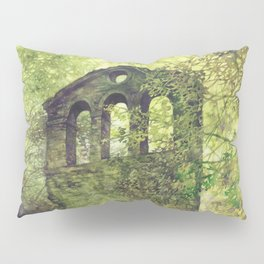 Ruins in the forest Pillow Sham