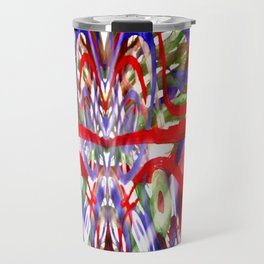 Color and lines in space Travel Mug
