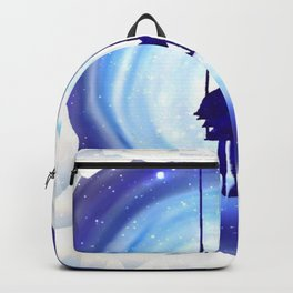 Girl Swinging in a Snow and Ice Heart Tunnel Backpack