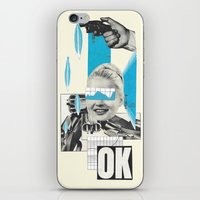 kim sy ok iPhone & iPod Skins featuring OK by collageriittard