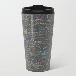 Math Lessons Metal Travel Mug