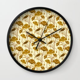 Sunfield Poppies Wall Clock