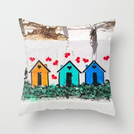 Love Shacks Throw Pillow