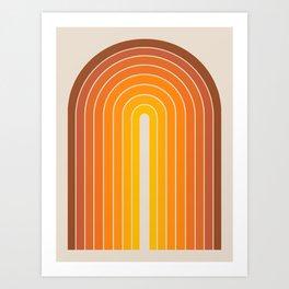Gradient Arch - Vintage Orange Art Print