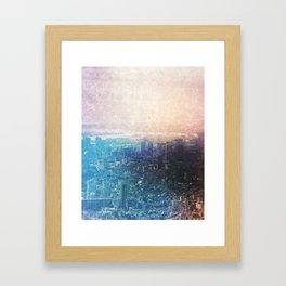 City from Scratch Framed Art Print