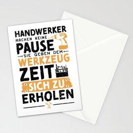 Handwerker Machen Keine Pause Sie Geben Dem Werkzeug Zeit Sich Zu Erholen Stationery Cards