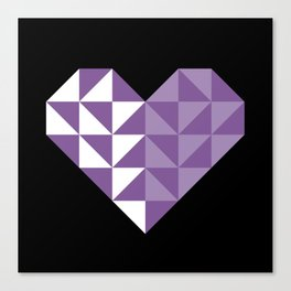 polygons in my heart Canvas Print