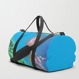 jelly fish swimming in a tropical sea Duffle Bag