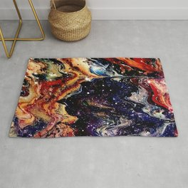 Galactic Mountains I Diptych  Rug