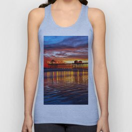 Huntington Beach Sunset   12/2/13 Unisex Tank Top