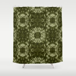 Khaki Shibori Shower Curtain