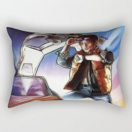 Back To The Future -Ink n Painted Rectangular Pillow