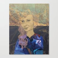 tina crespo Canvas Prints featuring Tina by Nina Schulze Illustration