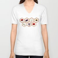 cookies V-neck T-shirts featuring Cookies by Marta Li