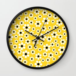 Dizzy Daisies - Yellow - more colors Wall Clock
