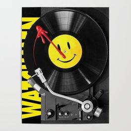 """""""Bloody Turntable"""" Watchmen fan art Poster"""