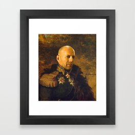 Bruce Willis - replaceface Framed Art Print