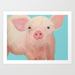 Pink Pig Art Print