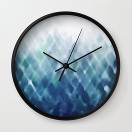 Diamond Fade in Blue Wall Clock